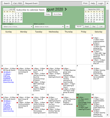 click on the calendar to go to the interactive calendar page